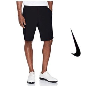Nike Golf Solid Black Flat Front Tech Shorts